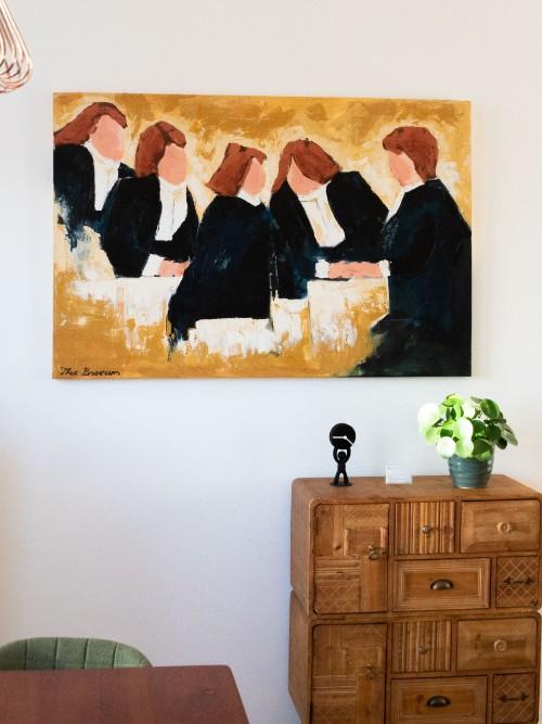 schilderij kantoor irma en kastje